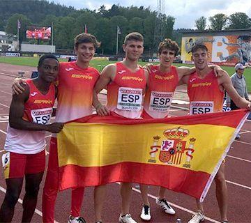 El nerjeño Javier Sanchez, bronce con la Selección Española
