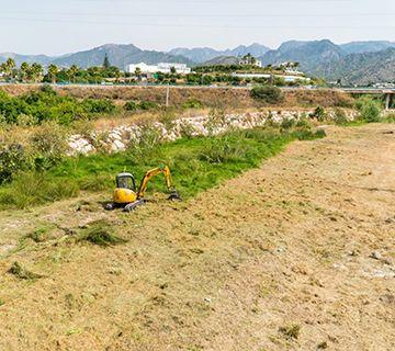 Trabajos de limpieza y desbroce del río Chillar