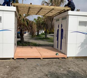Nuevos módulos de aseos para las playas