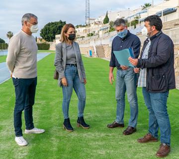 Recepcionadas las obras del césped de la Ciudad Deportiva